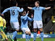 Chấm điểm Norwich 3-4 Man City: Người hùng Dzeko, tội đồ Nasri