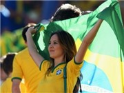 Vẻ đẹp Brazil nóng bỏng trên các khán đài World Cup