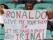 Khoảnh khắc CĐV: Fan Bồ Đào Nha đòi 'cắm sừng' Ronaldo