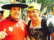 Nhật kí hành trình: Gặp CĐV huyền thoại Manolo. Tác nghiệp tại nơi bị CĐV Chile làm loạn