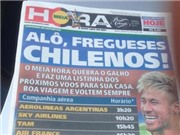 Báo Brazil 'giúp' fan Chile về nước sớm