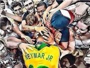 Bạn gái khóc ngất khi chứng kiến chấn thương của Neymar