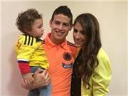 James Rodriguez khoe ảnh gia đình hạnh phúc trên mạng xã hội