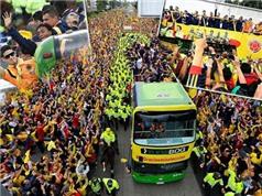 James Rodriguez được chào đón như anh hùng dân tộc ngày Colombia trở về
