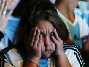 Khoảnh khắc CĐV: Người Argentina lặng lẽ đón nhận thất bại