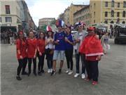 CHÙM ẢNH: Không khí thân thiện trước trận Pháp - Albania