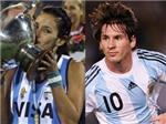 """Lionel Messi lại phải """"núp bóng"""" người đẹp hockey"""
