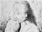 Phùng Quán - Bức chân dung tự vẽ