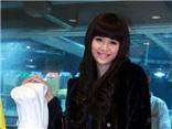 Hoa hậu Thu Thủy điệu đà với tóc nối