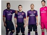 Arsenal gây bất ngờ với áo đấu màu... tím
