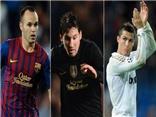 """Messi, Ronaldo và Iniesta dẫn đầu danh sách """"Cầu thủ hay nhất Âu châu 2012"""""""