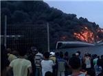 Tàu chiến tàng hình của Indonesia cháy rụi