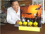 Biểu tượng Halloween từ vỏ trứng