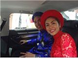 Tăng Thanh Hà hạnh phúc rạng ngời trong lễ rước dâu