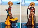 Diễm Hương tự hào trình diễn áo dài Việt Nam tại Miss Universe