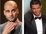 """VIDEO: Ronaldo tẽn tò vì bị Guardiola """"ngó lơ"""" tại Gala bóng đá"""
