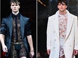 Bất ngờ với BST đồ lót nam bằng ren nữ tính của Versace