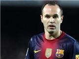 """Iniesta: """"Cầu thủ tổ chức tấn công"""" hay nhất thế giới 2012"""