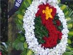 Vòng hoa mang dáng hình tổ quốc trong lễ viếng Đại tướng Võ Nguyên Giáp