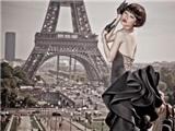 'Quý cô' Kha Mỹ Vân quyến rũ dưới chân tháp Eiffel
