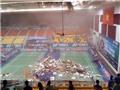Sập trần, nhà thi đấu Phan Đình Phùng bị mất quyền tổ chức giải cầu lông Việt Nam mở rộng