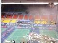 VIDEO: Kinh hoàng vụ sập trần Nhà thi đấu Phan Đình Phùng