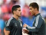 Ronaldo bất ngờ 'đuổi' James Rodriguez ra khỏi nhóm tập