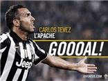 Xem Tevez đâm trúng yết hầu, giúp Juve 'kết liễu' Milan