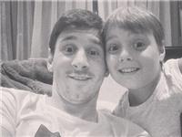 Cháu trai Messi bắt đầu sự nghiệp chơi bóng ở Barca
