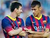 Neymar - trên vai của Messi