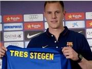Ảnh CHẾ thất bại của Barca: Ter Stegen - 'Neuer phẩy' trong hình hài Casillas
