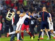 CHÙM ẢNH: Hỗn chiến kinh hoàng trong trận đấu giữa Serbia và Albania