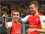 Anderlecht 1-2 Arsenal: Podolski giúp 'Pháo thủ' ngược dòng ngoạn mục