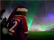 Cầu thủ Bayern hát tặng CĐV trong chiến thắng cuối cùng của năm 2014