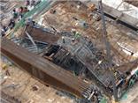 Giáo chống thi công tại dự án Đường sắt trên cao Cát Linh - Hà Đông không đảm bảo an toàn