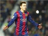 Elche 0-6 Barcelona: Lập cú đúp, Messi lập kỉ lục 'đánh sập' 82 SVĐ trong sự nghiệp