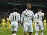 Real Madrid 1-1 Villarreal: Ronaldo lập thành tích về sút 11m. Real chỉ còn hơn Barca 2 điểm