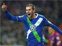 Bundesliga - Vòng 23: Có Bas Dost, Wolfsburg vẫn bay cao