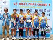 Chặng 5 giải xe đạp nữ quốc tế Bình Dương 2015: Biwase Bình Dương xuất sắc nhất