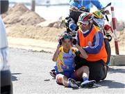 Chặng 6 giải xe đạp nữ quốc tế Bình Dương 2015: 2 tay đua chấn thương do đường xấu