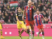 21h30 ngày 07/3, Hannover - Bayern Munich: Chờ Robben đi vào lịch sử