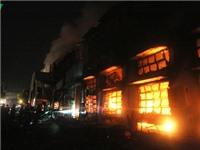 Hỏa hoạn thiêu rụi dãy nhà kho của công ty sản xuất giày da