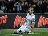 Harry Kane ghi bàn ở trận ra mắt tuyển Anh chỉ sau 79 giây và 3 lần chạm bóng