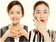 Diễm My 9x, Hồng Ánh, Hoàng Thùy Linh vẽ móng tay cứu tê giác
