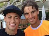 Neymar cổ vũ Nadal thắng trận ở giải Barcelona Open