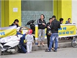 Không khí bán vé sân Hàng Đẫy: Hà Nội T&T - Hoàng Anh Gia Lai