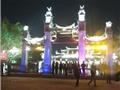 Tá hỏa với bia đá lem nhem, phản cảm ở đền Trần - Thái Bình