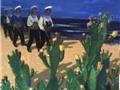 Tranh 'Biển, đảo Tổ quốc và chiến sĩ Hải quân' của các giảng viên Mỹ thuật