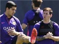 Suarez chấn thương, có thể vắng mặt ở chung kết cúp Nhà Vua