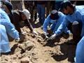 Rùng mình trước mộ tập thể tại vùng đất bị IS chiếm đóng